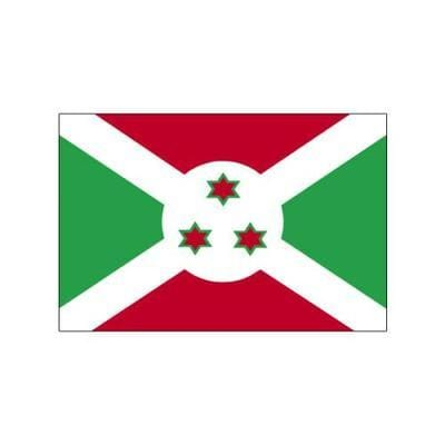 Burundi Sewn Flag with Rope & Toggle