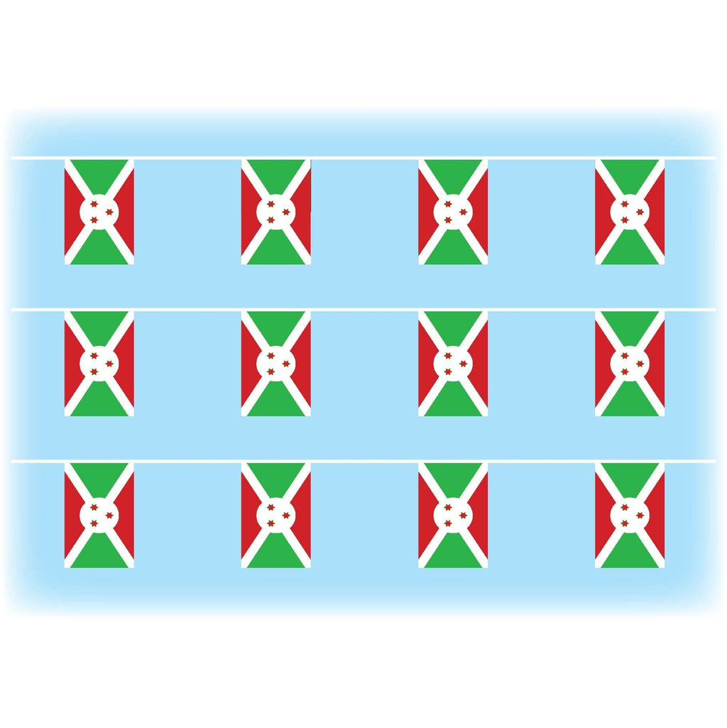 Burundi Flag Synthetic Bunting