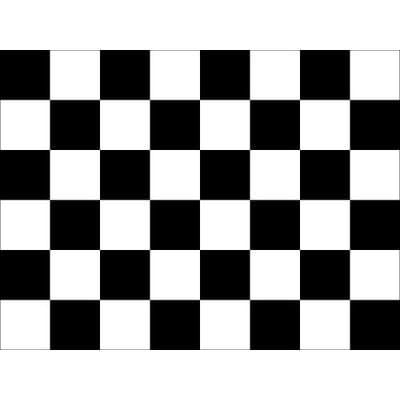 Black & White Checkered 1.52m x 0.91m (5ftx 3ft) Budget Display Flag