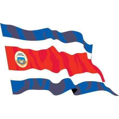 Costa Rica 1.52m x 0.91m (5ftx 3ft) Budget Display Flag