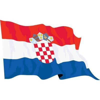 Croatia 2.5yd (229cm x 114cm) Sewn Flag with Rope & Toggle
