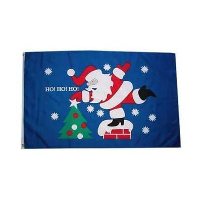 Christmas Ho Ho Ho 1.52m x 0.91m (5ftx 3ft) Budget Display Flag