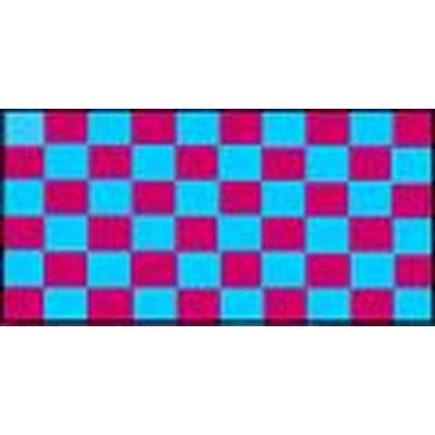Claret & Blue Checkered 1.52m x 0.91m (5ftx 3ft) Budget Display Flag