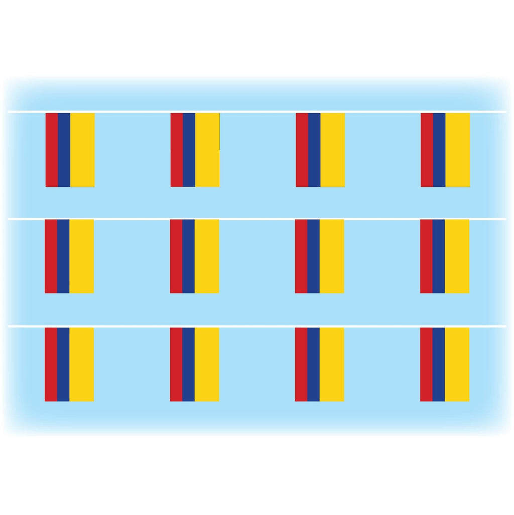 Colombia flag bunting