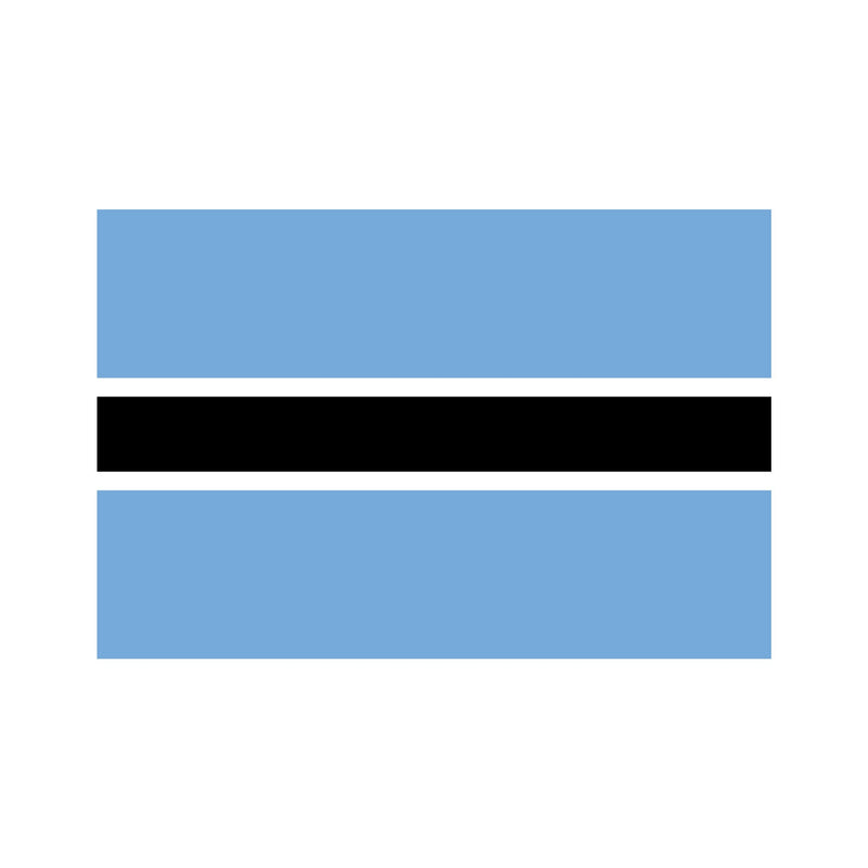 Botswana Budget Display Flag 91cm x 60cm (3ft x 2ft)