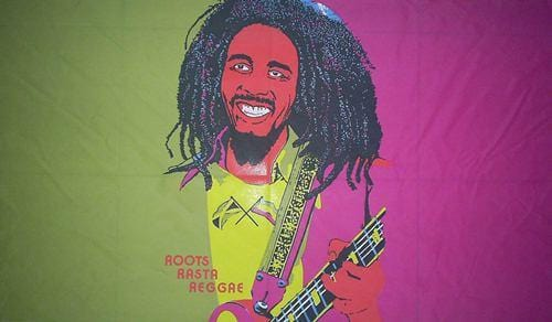 Bob Marley Guitar Flag - 5ft x 3ft