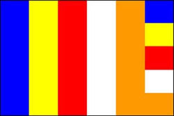 Buddhist Flag - 5ft x 3ft