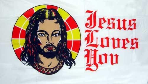 Jesus Flag - 5ft x 3ft