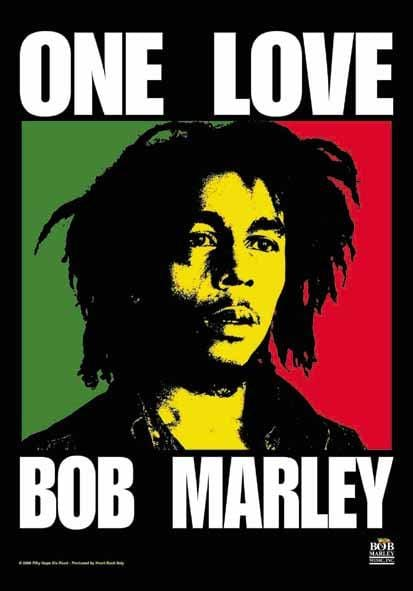 Bob Marley One Love Flag - 3ft x 5ft
