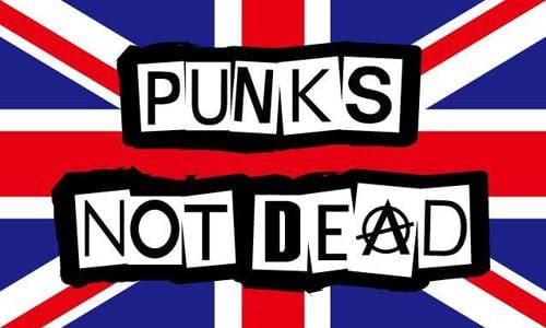 Punks Not Dead Flag - 5ft x 3ft