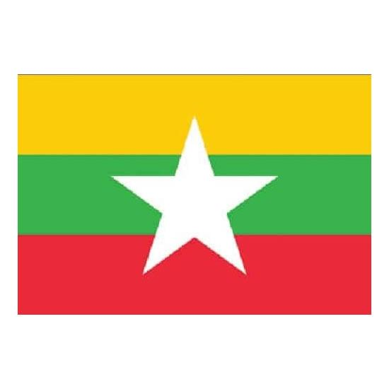Myanmar 1.52m x 0.91m (5ftx 3ft) Budget Display Flag