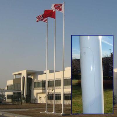 8m flagpole with hinged base plate