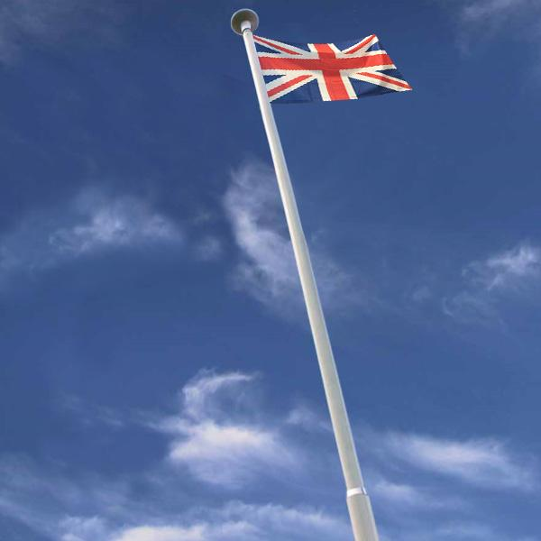 8m Step-tapered Builders Flagpole with External Halyard