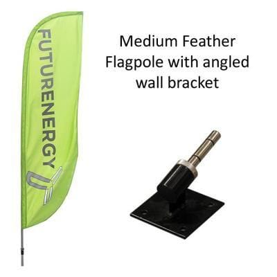 Medium Feather Flag with Angled Bracket