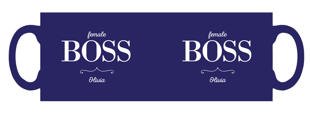 Female Boss personalised mug