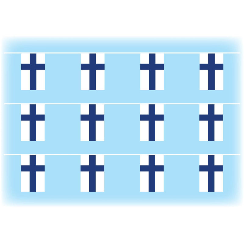 Finland flag bunting