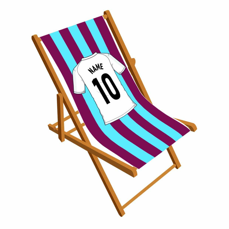 Football team stripes personalised Deckchair
