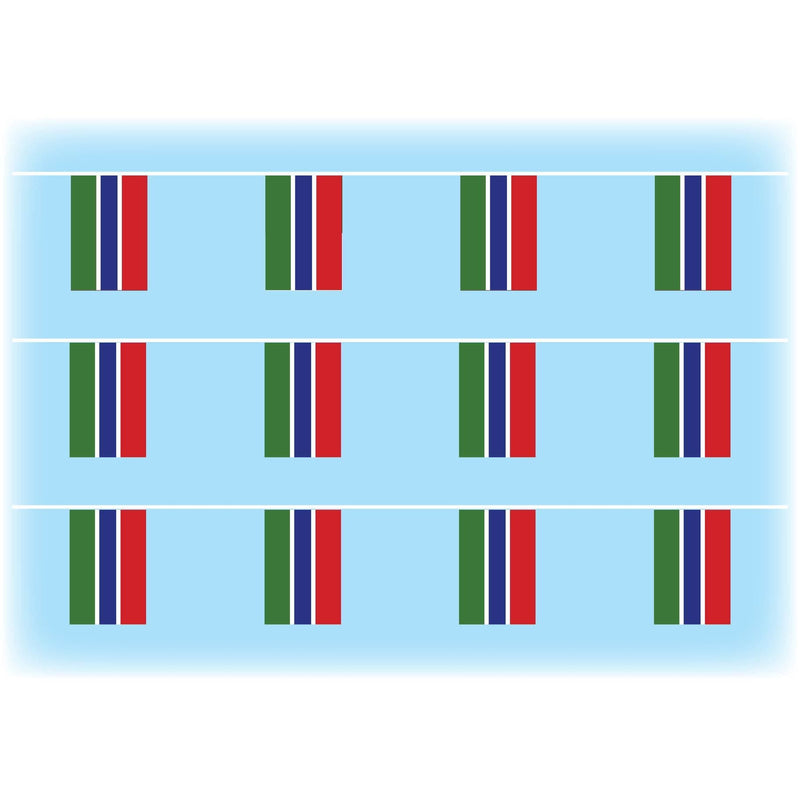 Gambia flag bunting