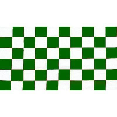 Green & White Checkered 1.52m x 0.91m (5ftx 3ft) Budget Display Flag