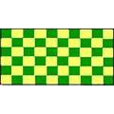 Green & Yellow Checkered 1.52m x 0.91m (5ftx 3ft) Budget Display Flag