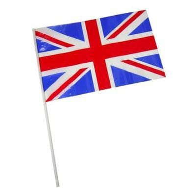 HAND WAVING Polythene Union Flags (packs of 20)