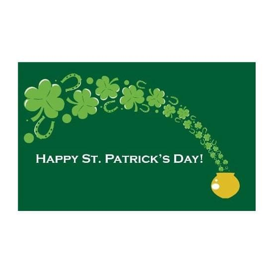 St Patricks Day pot of gold Flag - 5ft x 3ft