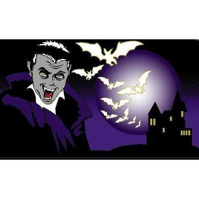 Halloween Dracula 5ft x 3ft Flag
