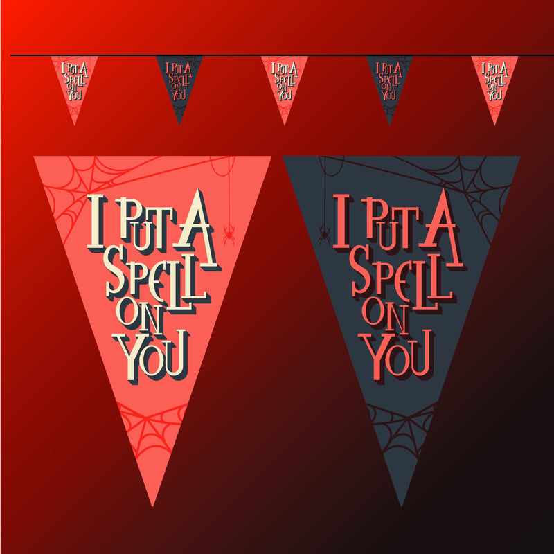 Halloween I put a spell on you bunting