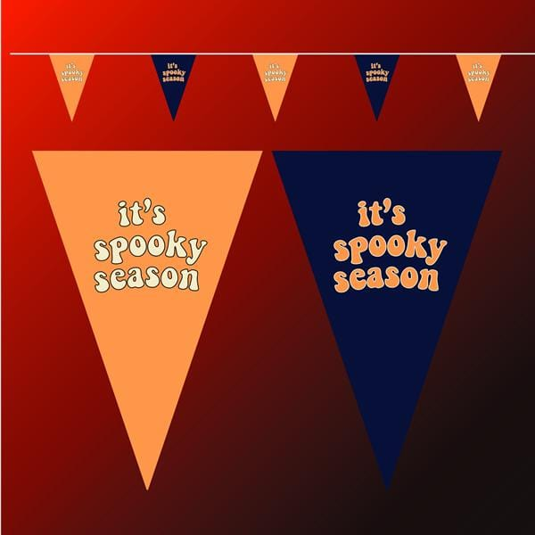 It's Spooky season bunting