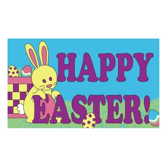 Happy Easter bunny Flag - 5ft x 3ft