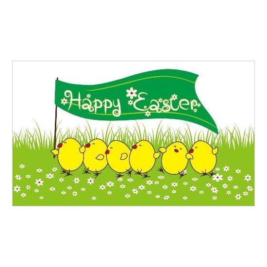 Happy Easter Chick Flag - 5ft x 3ft