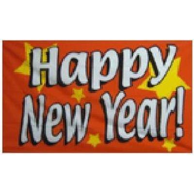 Happy New Year Flag - 5ft x 3ft