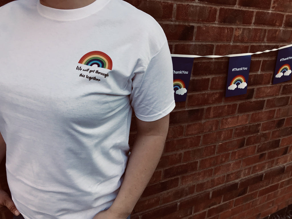 "Rainbow ""We'll get through this"" T-shirt"