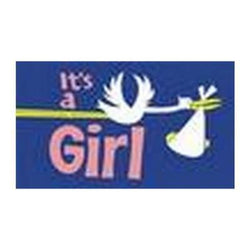 Copy of It's a Girl Flag 5ft x 3ft flag