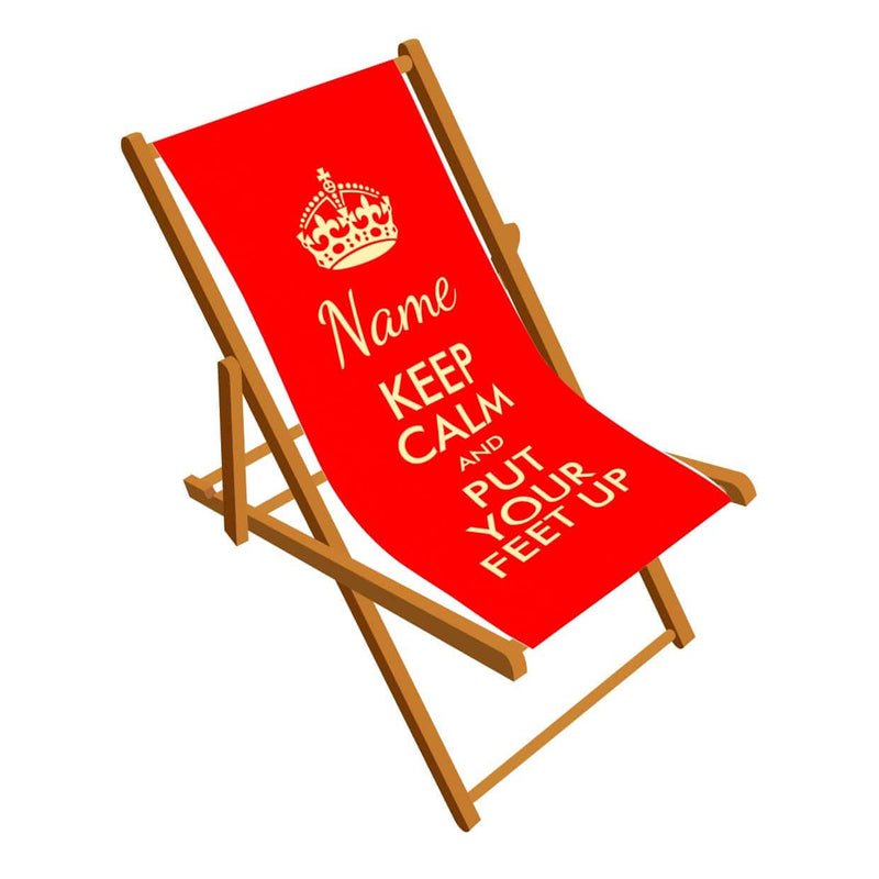Keep Calm and Put Your feet Up personalised Deckchair