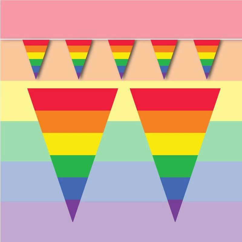 LGBTQ+ Synthetic bunting - 10 metres