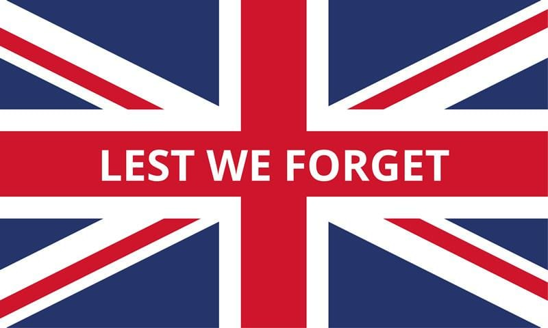 Lest We Forget Flag 900mm x 600mm