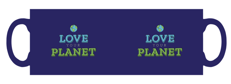 Love your planet personalised mug