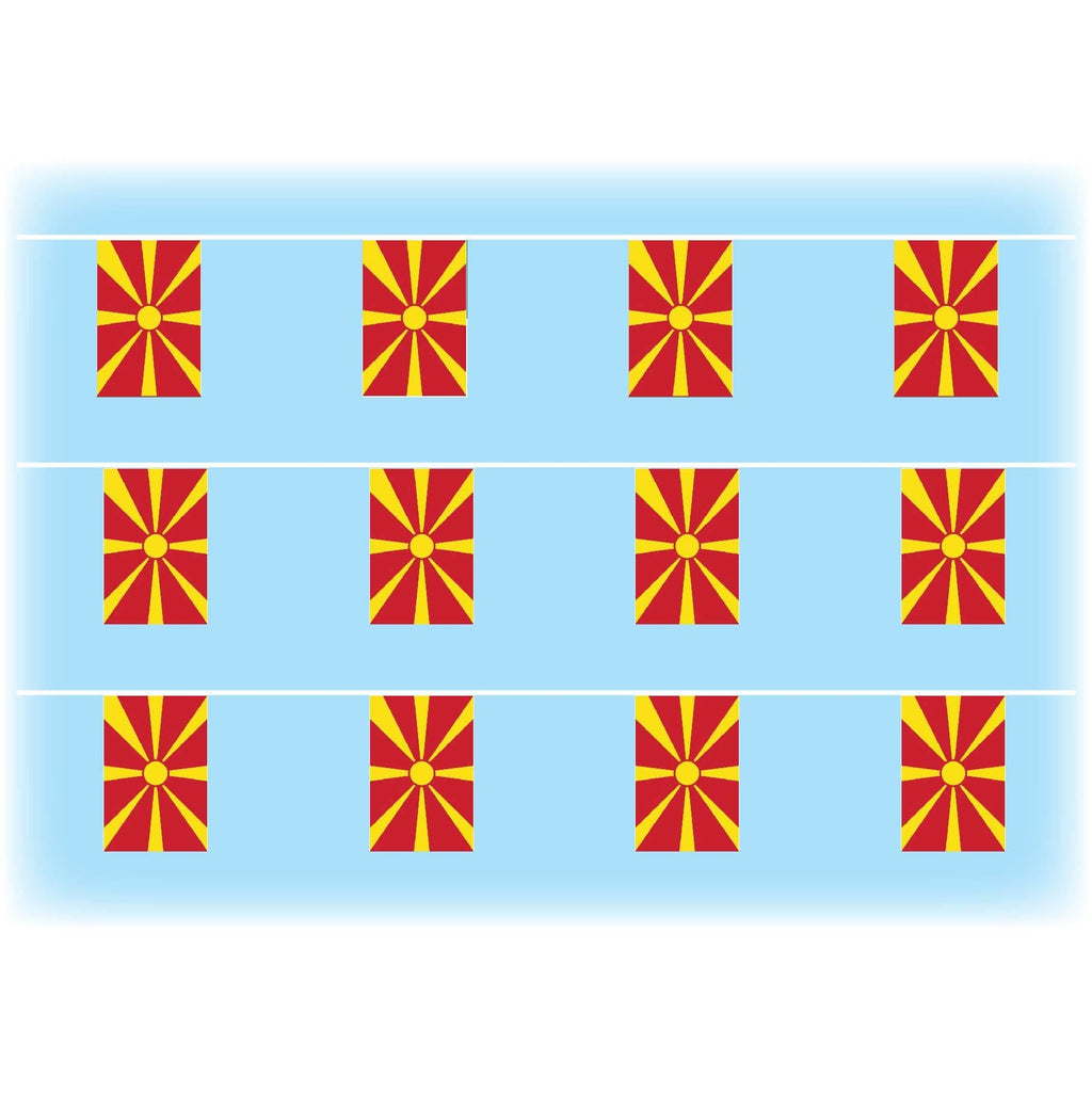 Macedonia Flag Bunting