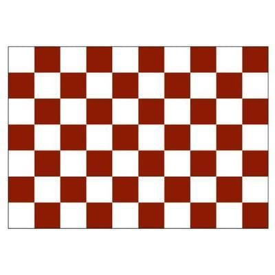 Maroon & White Checkered 1.52m x 0.91m (5ftx 3ft) Budget Display Flag