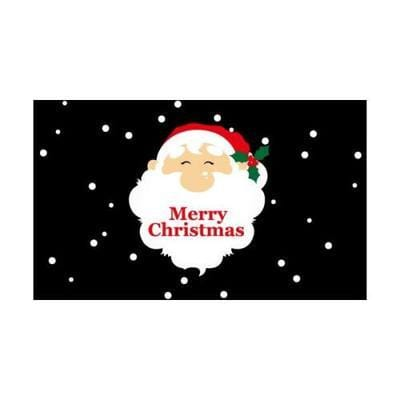 Merry Christmas Santa Face Flag - 1.52m x 0.91m (5ftx 3ft) Budget Display Flag