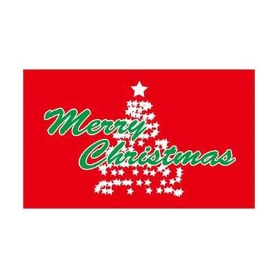 Christmas Tree Flag - 1.52m x 0.91m (5ftx 3ft) Budget Display Flag