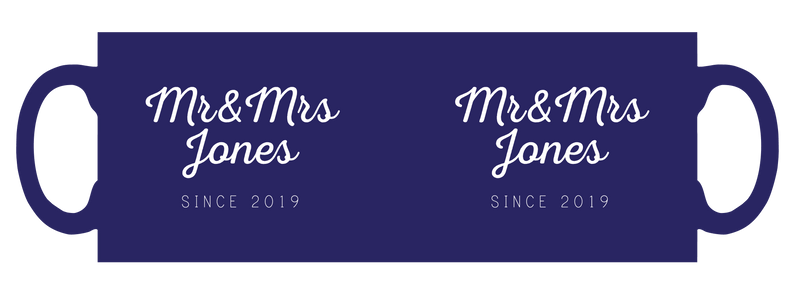 Mr & Mrs personalised mug