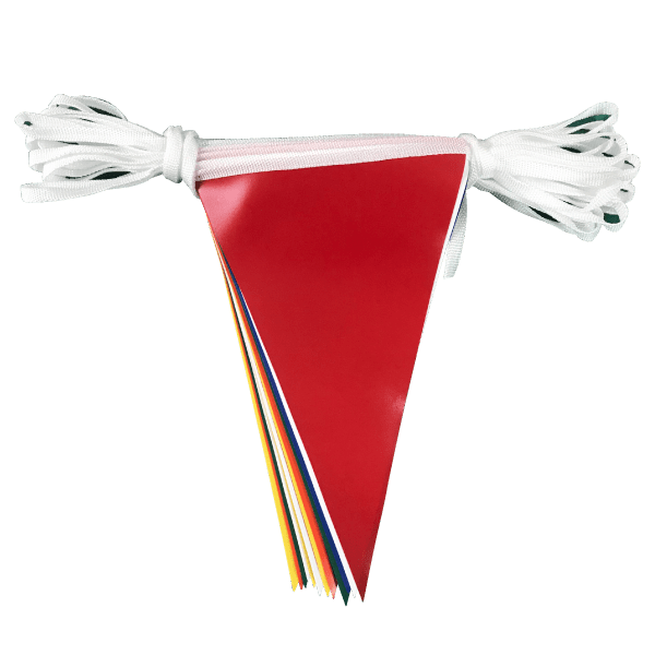 Multicoloured PVC bunting - 30 metre length