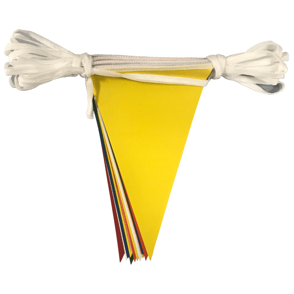 Multicoloured PVC bunting 2