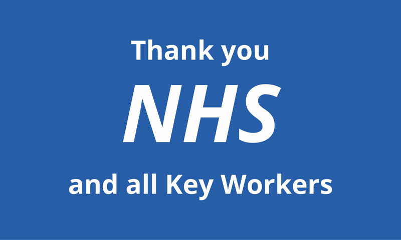 Thank you NHS and all Key Workers flag
