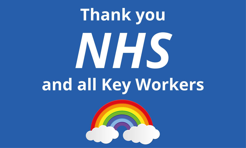 Thank you NHS and Key Workers Rainbow Charity Flag