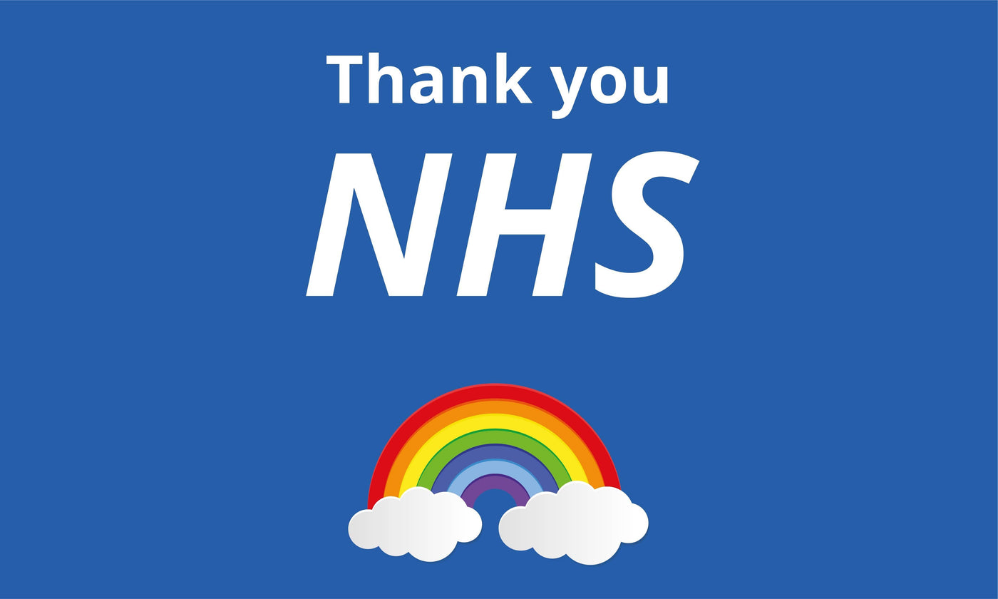 Thank you NHS Rainbow Charity Flag – Flags and Flagpoles