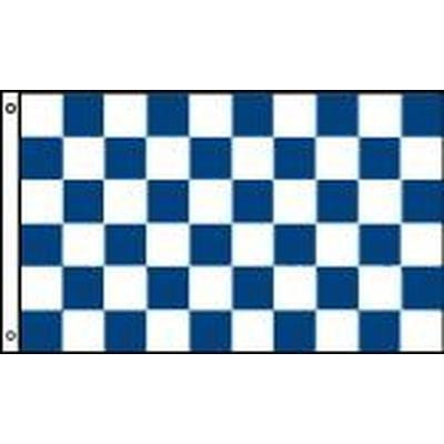 Navy & White Checkered 1.52m x 0.91m (5ftx 3ft) Budget Display Flag