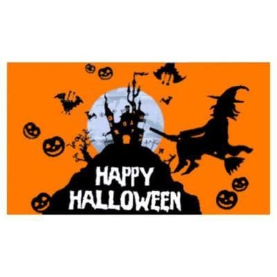 Orange Halloween Flag - 1.52m x 0.91m (5ftx 3ft) Budget Display Flag